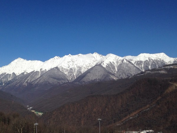 The Caucasus mountain peaks of Krasnaya Polyana