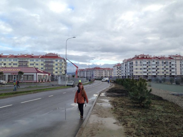Not far from the Olympic Park you'll find specially built villages for Olympic staff and volunteers. A village like this is my home for the next month here in Russia.
