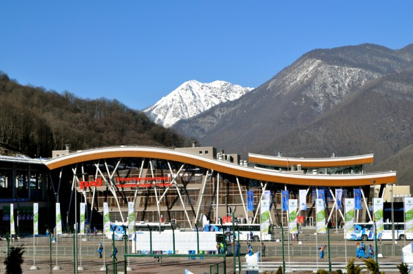 The main train station at Krasnaya Polyana connecting the Mountain Cluster to the rest of Sochi