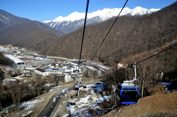 The best way to get around Sochi's Mountain Cluster is by scenic cablecar.