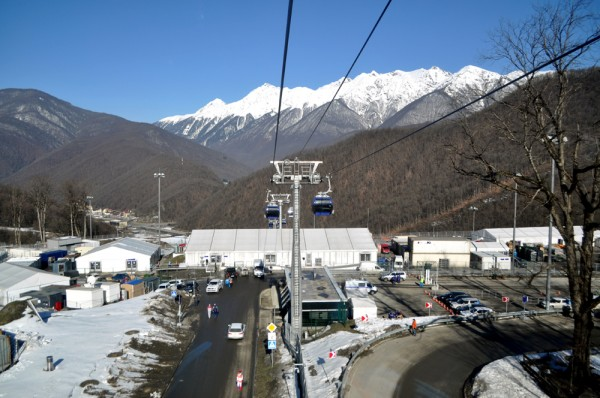 Cablecars pass over Mountain Cluster venues