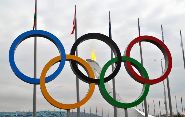 Sochi Olympic Rings and Flame
