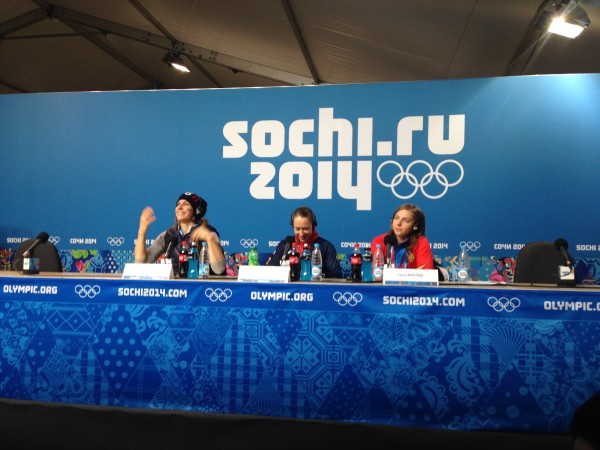 Ladies Skeleton press conference following the match