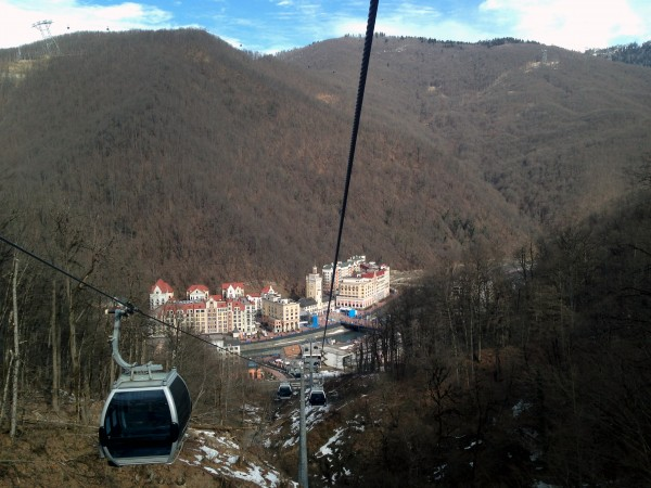 Rosa Khutor as seen from the Sanki cable-way