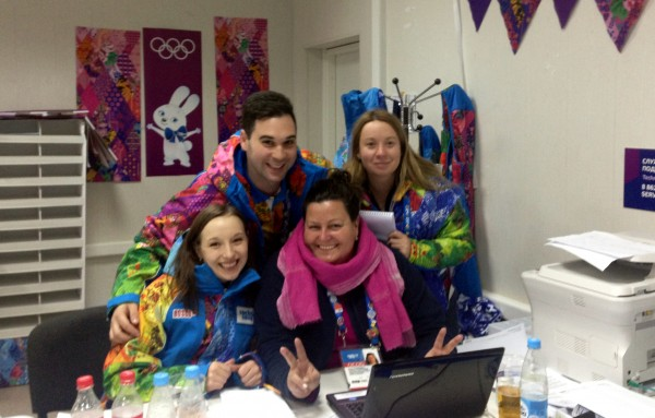 Some of the ONS team in the office