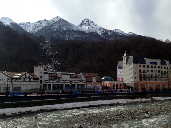The town is dotted with shops, hotels and cable-car stations all up and down the river