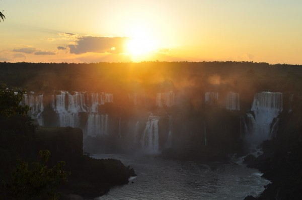Iguazu Sunset from Brazil Hotel das Cataratas