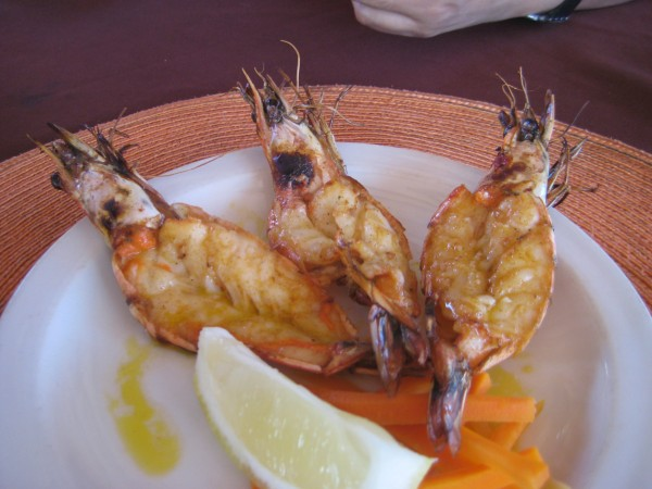 Perfectly cooked Mozambican prawns from Fishmonga