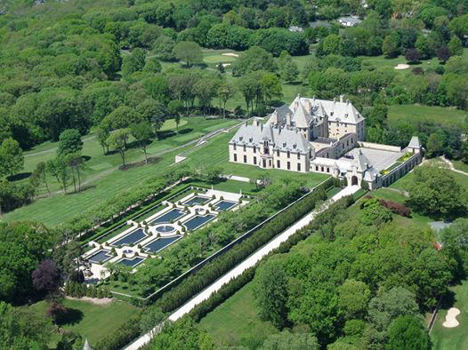 Oheka Castle as seen from above