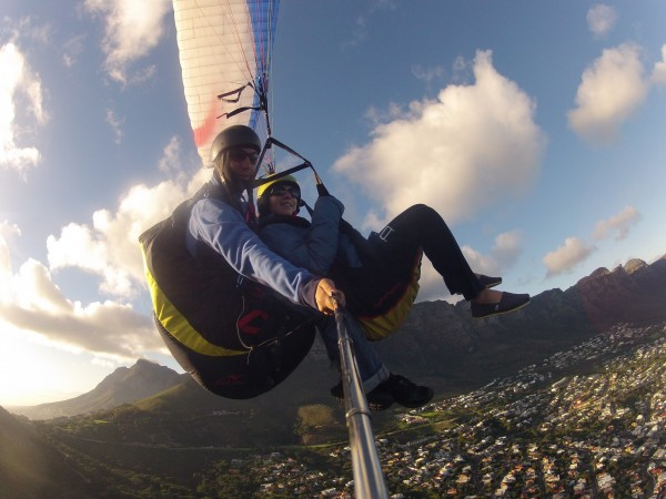 Go Pro Paragliding Camps Bay from Lions Head South Africa Paragliding