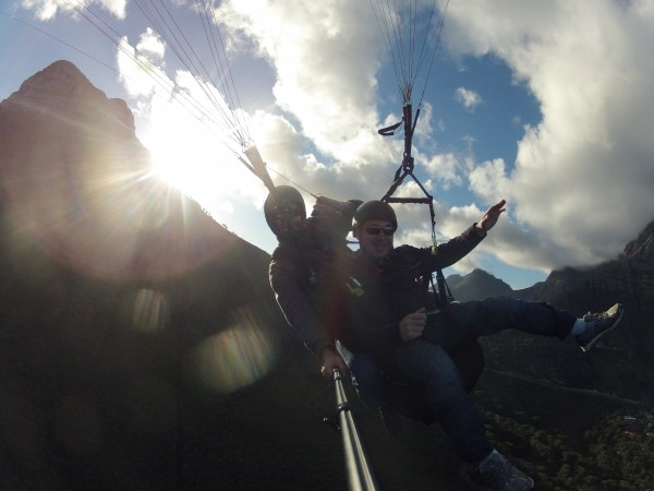 Sunlight Go Pro Paraglide Lions Head Cape Town South Africa