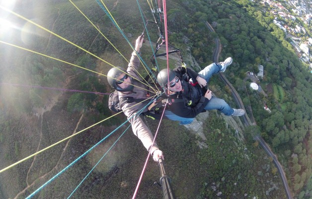 Best paraglide go pro lions head cape town south africa
