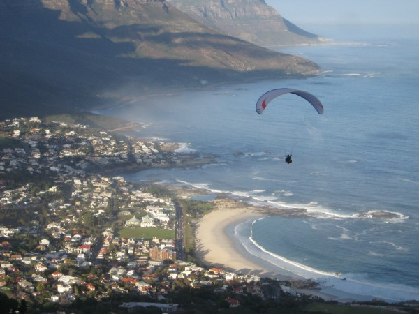Paraglider cape town south africa