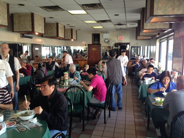 Not a white person in sight. Just like I like my Vietnamese restaurants.