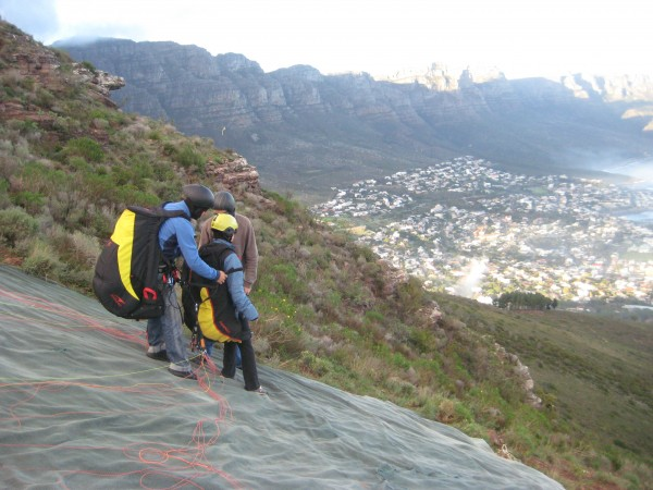 Pre-Paraglide lions head cape town south africa