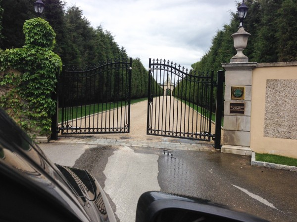 Arrival at Oheka Castle is a grand affair.