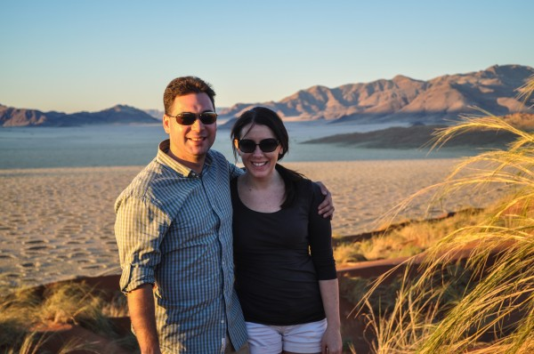 Chandra & I overlooking the desert in Namibia