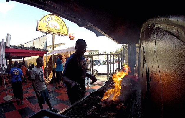 Masterful BBQ taking place at Joe's Butchery in Alexandra Township