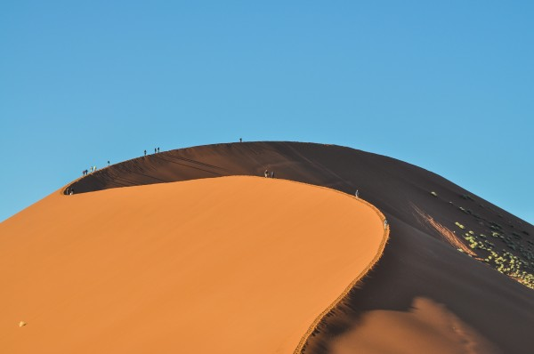 To get a sense of scope, those are people walking on the crest of the dune. These are the largest dunes in the world.