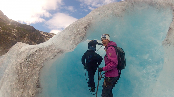Sometimes a glacier can feel like another planet!
