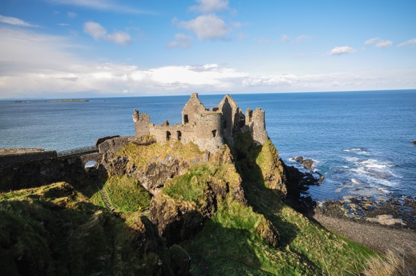 Dunluce Castle is one of the most dramatic sites in Northern Ireland.