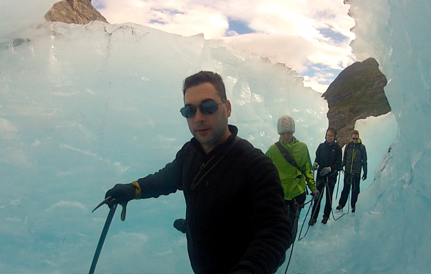 Glacial Ice Tunnel Dave