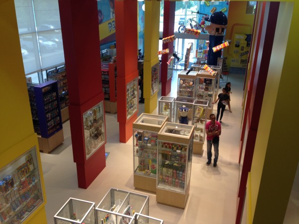 The PEZ Visitor Center and Shop from the Mezzanine Level