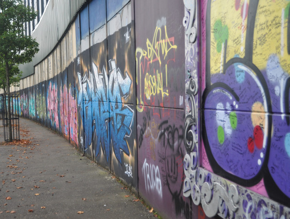 Peace Wall in Belfast