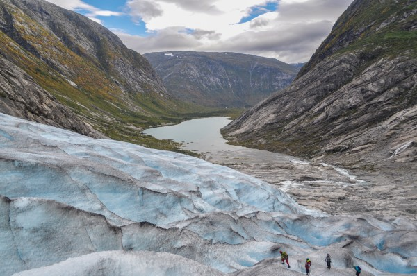 A glacier is unlike walking on any other surface you've ever encountered. The sheer scale of things is difficult to grasp.
