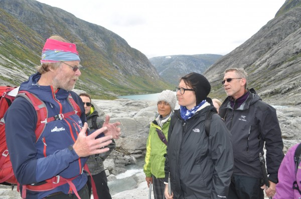Our guide Steiner explains some of the safety issues we need to keep in mind before setting off on our initial climb.